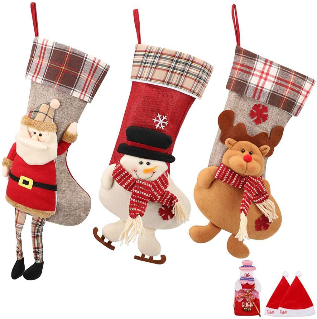 weihnachtsstrümpfe-santa-schneemann-rudolph